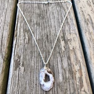 Jewelry - Agate Geode Slice Necklace